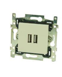 SMART STOPCONTACT USB-LADER ORIGINAL CREAM