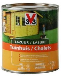 V33 LAZUUR TUINHUIS HOUTTINT 0.75L SATIJN KLEURLOOS