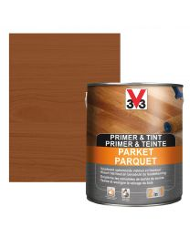 V33 PRIMER & TINT PARKET 2,5L DONKERE EIK