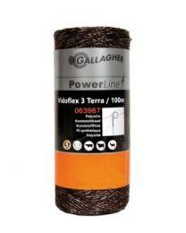 GALAGHER VIDOFLEX 3 POWERLINE TERRA 100M