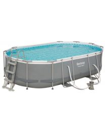 BESTWAY POWER STEEL OVAL POOL ZWEMBAD 4.88M X 3.05M X 1.07M