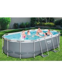 BESTWAY POWER STEEL OVAL POOL ZWEMBAD 4.27M X 2.50M X 1.00M