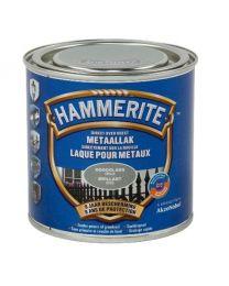 HAMMERITE METAALLAK HOOGGLANS GRIJS 250 ML
