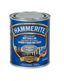 HAMMERITE METAALLAK HOOGGLANS GRIJS 750 ML