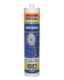 SANITAIR SILICONE TRANSPARANT 300ML S8100