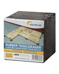 RUBBER TEGELDRAGER 10CMX10CM 10ST