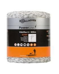 GALLAGHER VIDOFLEX 6 POWERLINE 400M WIT