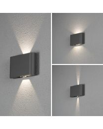 CHIERI LED WANDARMATUUR FLUSH TWIN 2X6W ANTRA