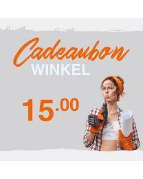 CADEAUBON WINKEL 15 EURO